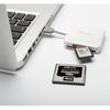 PNY Lecteur Cartes mémoire SD et Micro SD USB 2.0 blanc