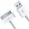 Câble USB blanc pour 3G,3GS,4,4S iPod, Ipad 1,2,3,4